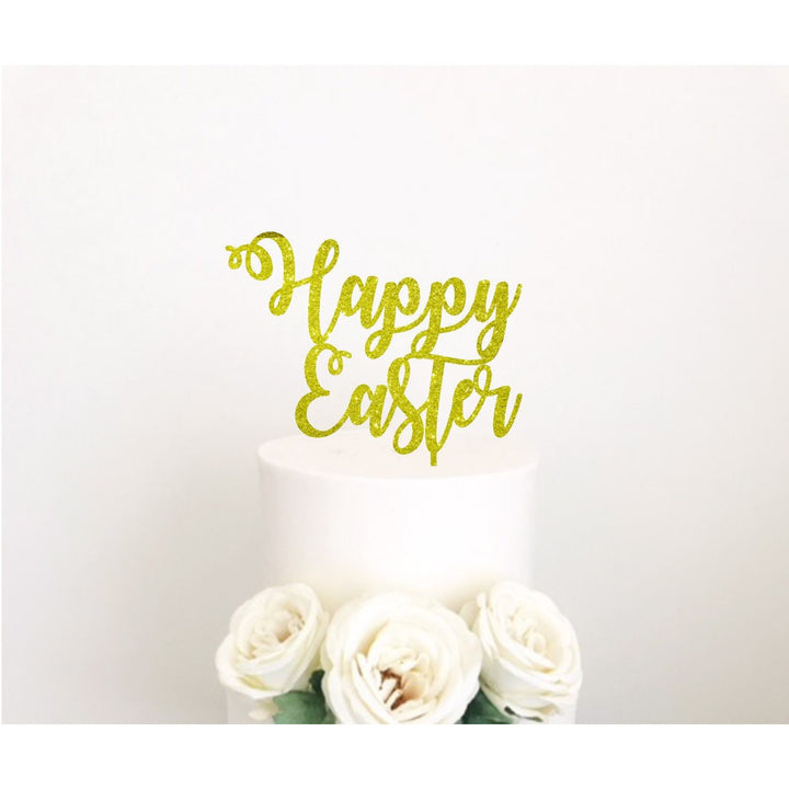 Happy Easter Acrylic Cake topper - Aston Blue