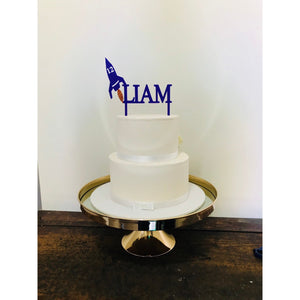 Rocket Cake Topper - Aston Blue