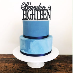 Eighteen Cake Topper - Aston Blue