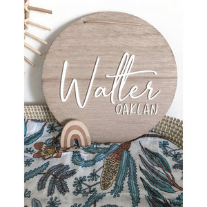 Round Name Plaque - Aston Blue