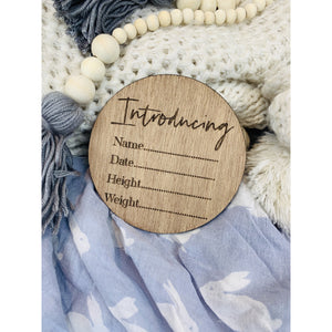 Birth Announcement Sign - Aston Blue