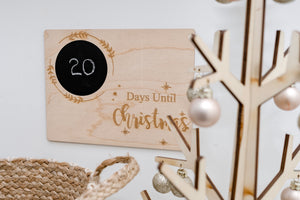 Christmas Countdown Board - Aston Blue