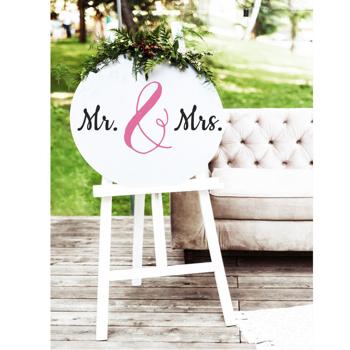 Mr and Mrs Sign - Aston Blue