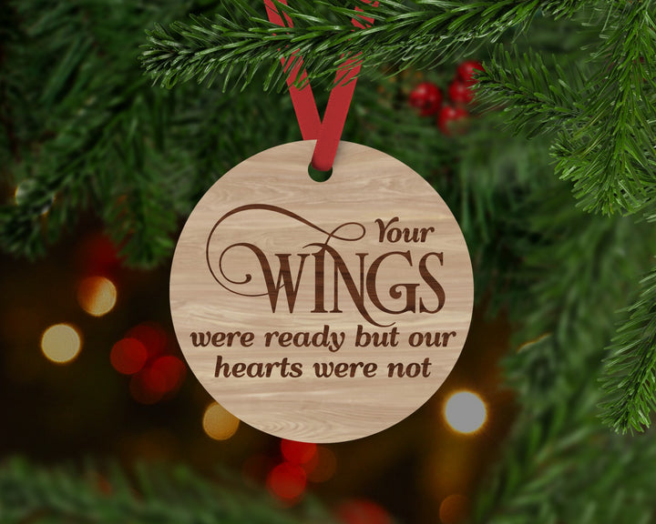 Your Wings Were Ready Ornament - Aston Blue
