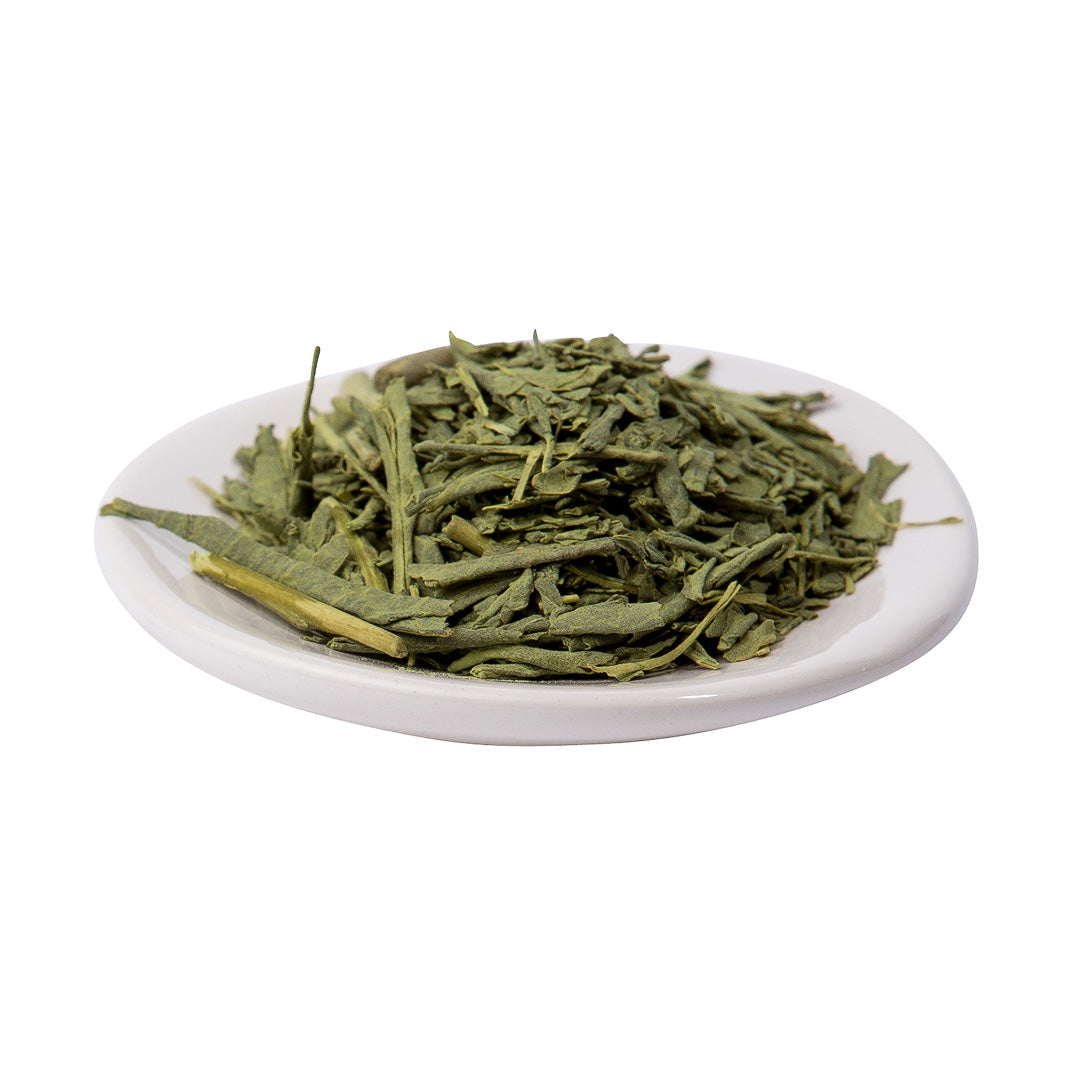 matchairi sencha on platter