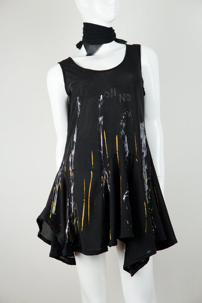 【Tomorrow Is The Same As Yesterday】Rain Paint Black Dress・黒ワンピース