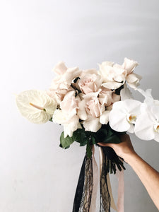 Bridal Bouquet - Orchid + Roses + Anthurium