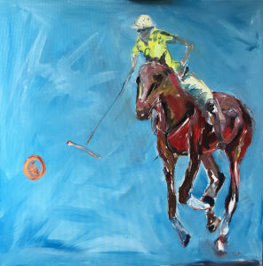 Polo pony after the ball. Oil on Canvas. for sale