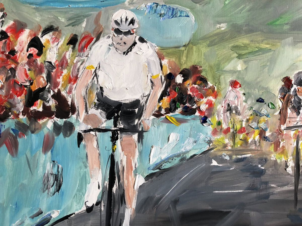 Winning on a Hilltop - Tour De Yorkshire Limited edition print