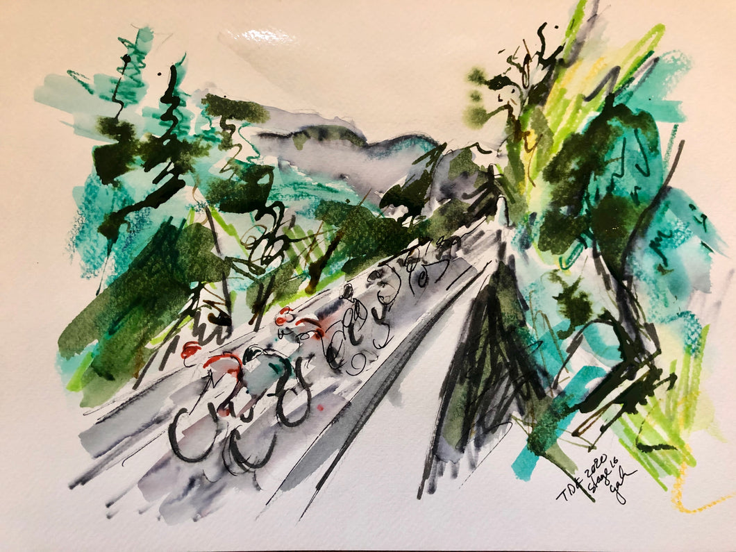 Tour de France stage sixteen 2020 - Cycling Art