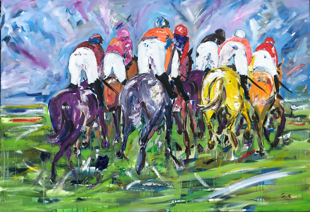 Great Turn of Foot - Horse Racing Painting