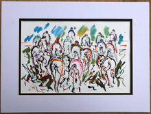 Riding High- Horse Racing Painting