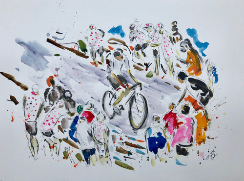 Tour de France 2020 Stage eight - cycling art