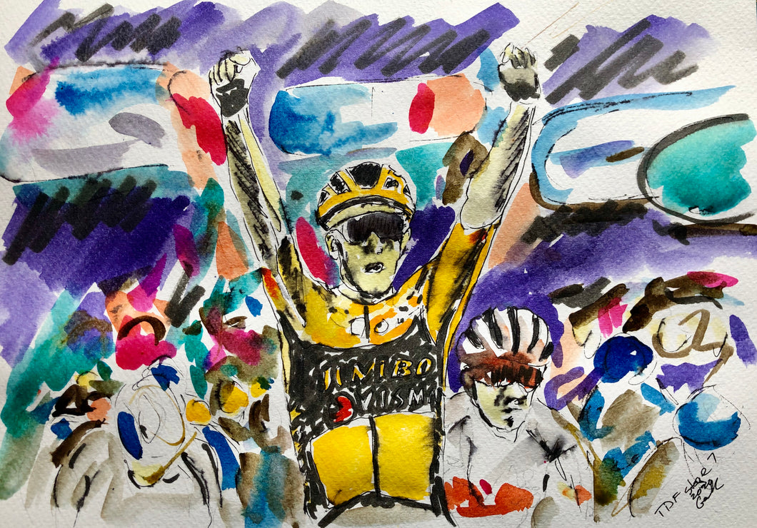 Tour de France 2020 stage 7 - Cycling art