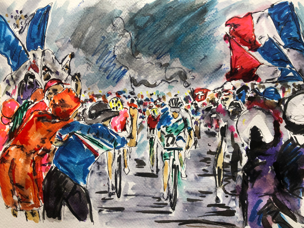Tour de France stage six 2020 -cycling Art