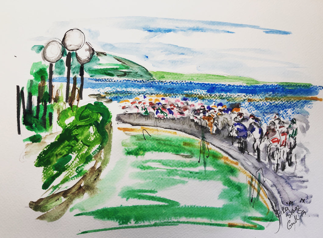 Sun, Sea and Cycling - Cycling Painting