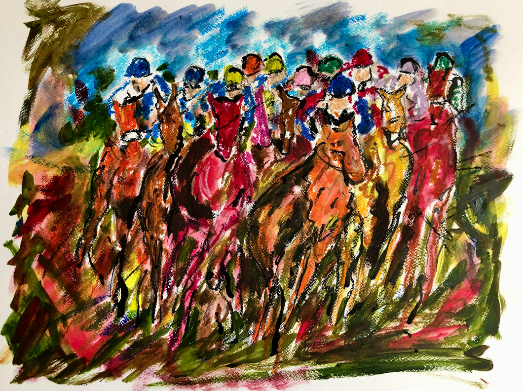 The Full Gallop - Horse Racing Painting