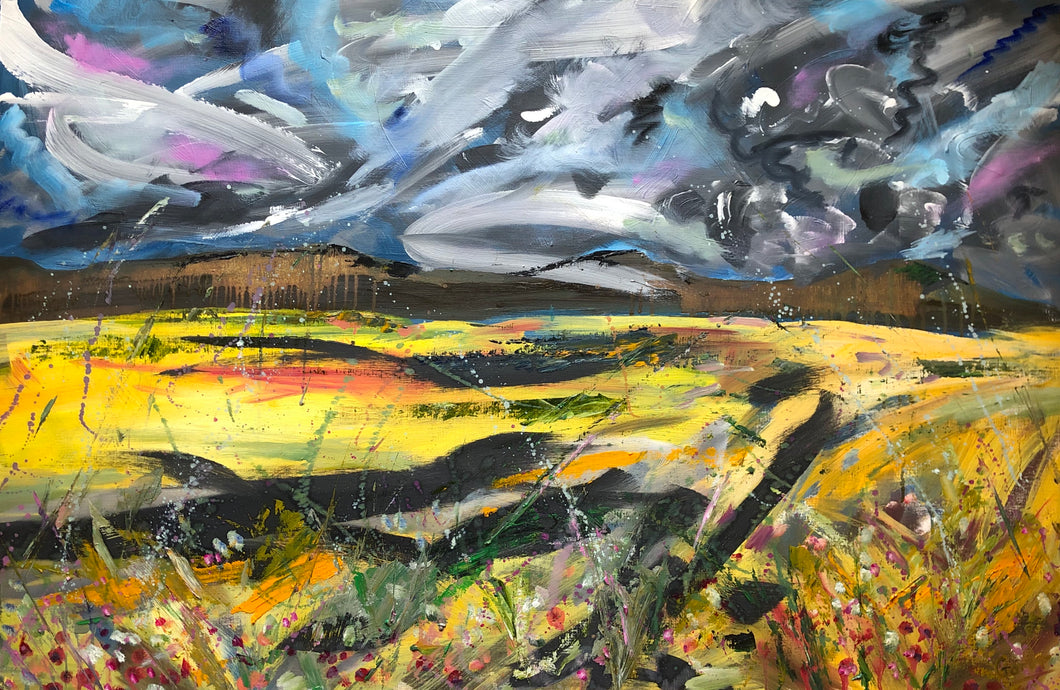 Toward the Hills of the North York Moors - Landscape Painting