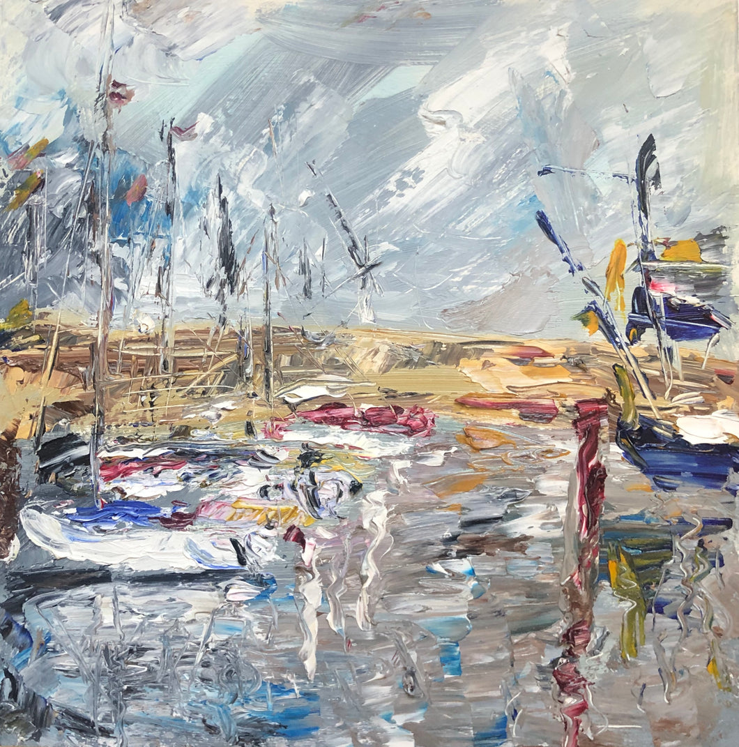 Impressions of Scarborough Marina - Seascape Painting
