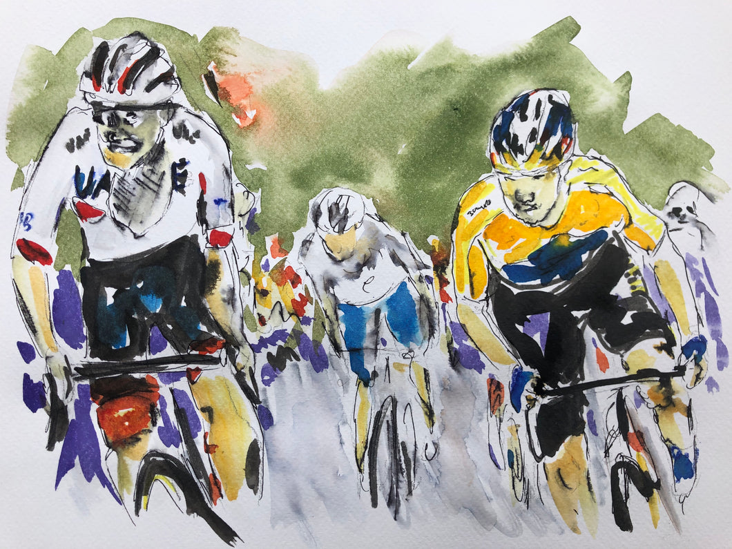 Tour de France 2020 Stage nine - Cycling art