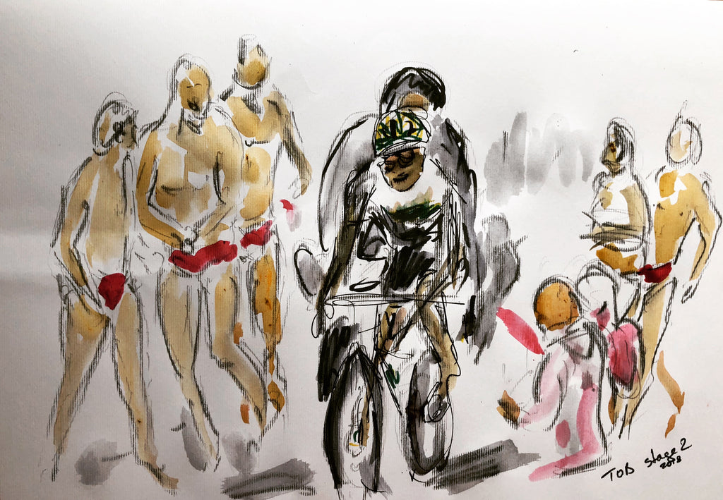 Tour of Britain Fans in Speedos