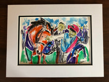 After the Race - Horse Racing Drawing