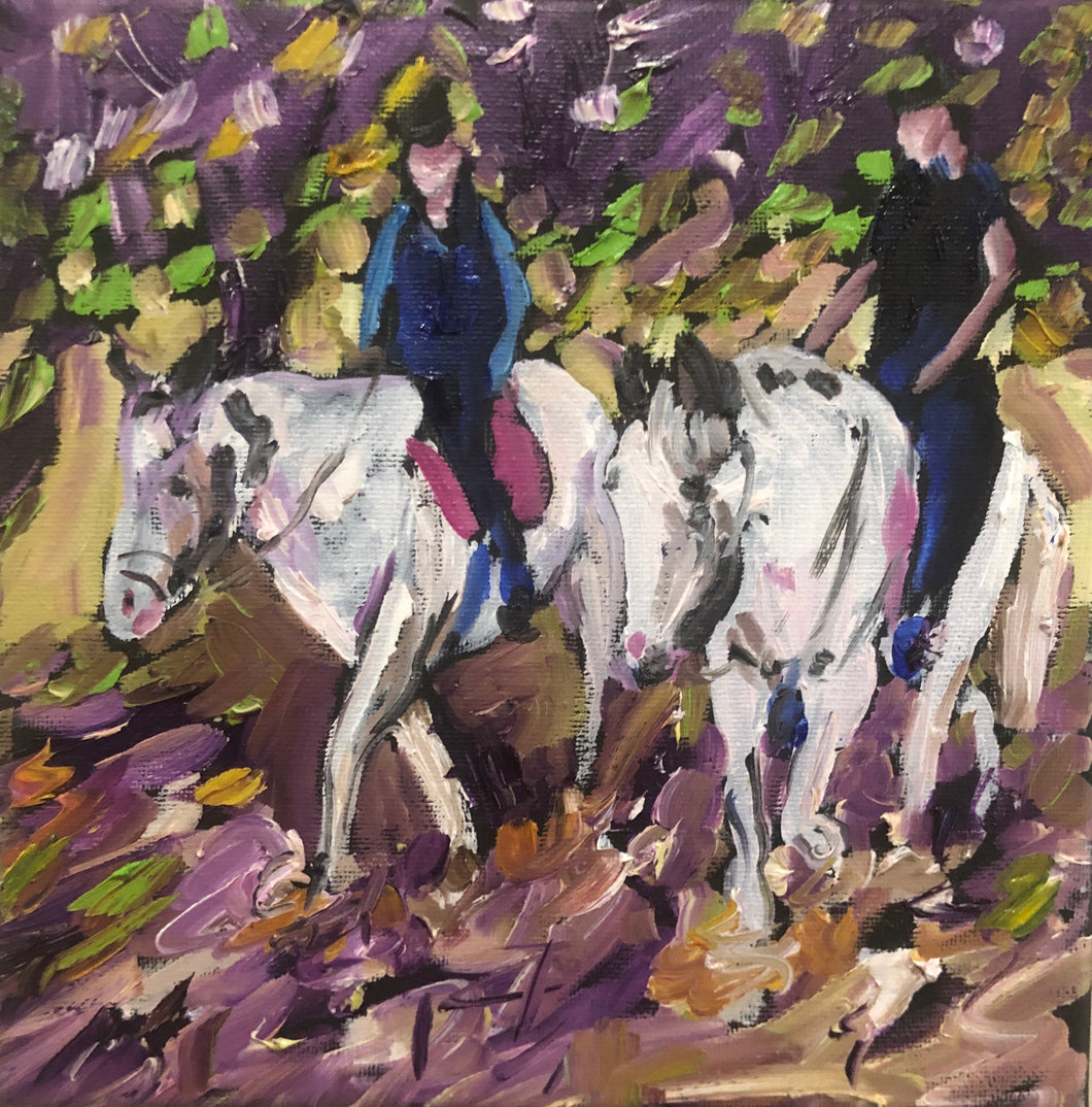 Horse racing painting by Garth Bayley