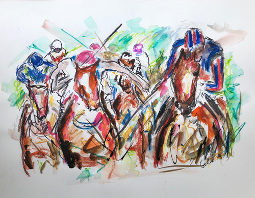 1000 Guineas in Full Motion - Horse racing Painting