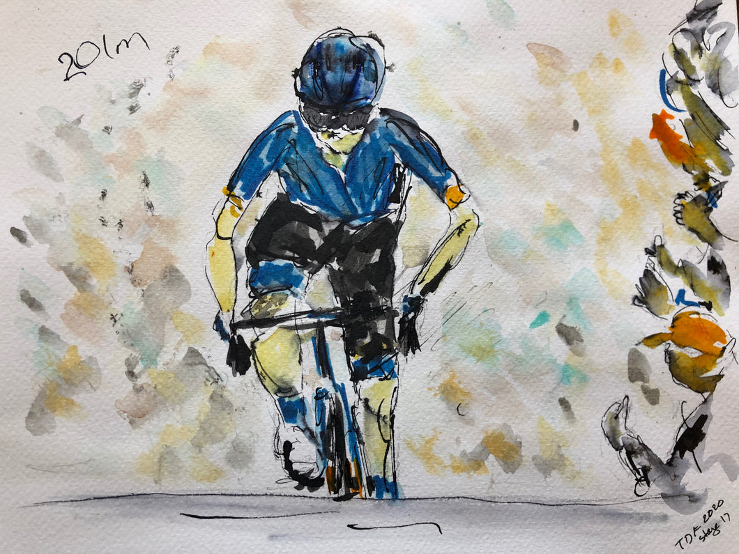 Tour de France stage 17 - Cycling art