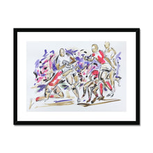 The Fight to Control the Ball - Rugby Print Framed & Mounted Print