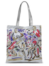 The Fight to Control the Ball - Rugby Print Sublimation Tote Bag