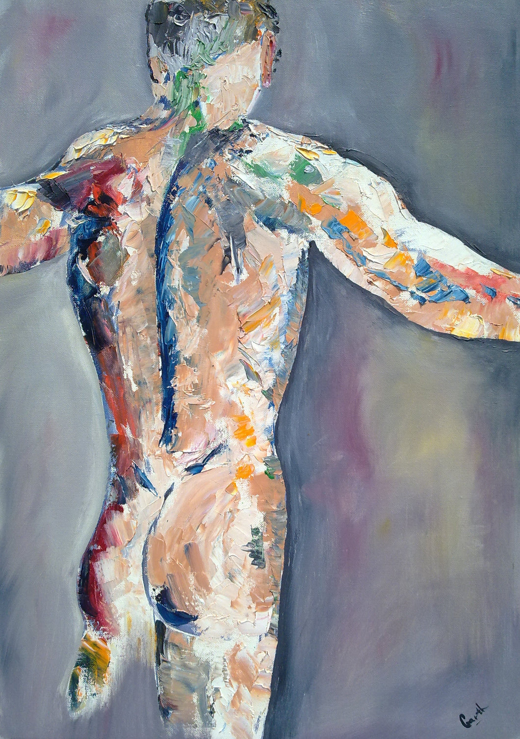 Male Nude - Garth Bayley Art