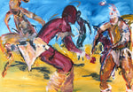 Painting of Zulu Dancers