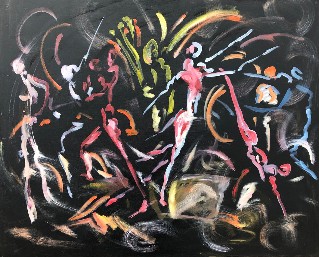 A very modern dance - Dance Painting