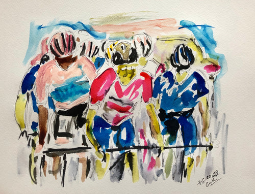 Stage 20 Giro d'italia - Cycling Painting