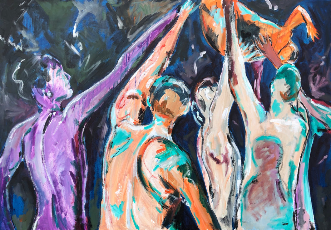 dancers oil painting