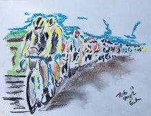 In the Peloton - Cycling Painting