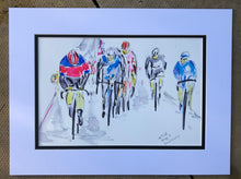 The Breakaway - Cycling Painting