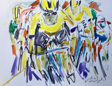 Newcastle sprint to Victory - Cycling Painting