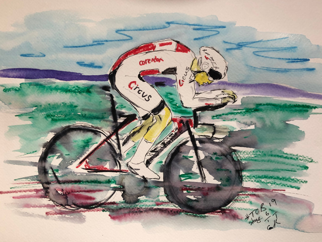Time trials - Cycling Painting