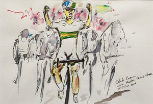 Drawing of the Tour Down Under - Caleb Ewing