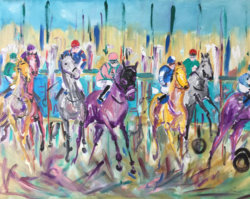 Horse racing painting - Garth Bayley Art