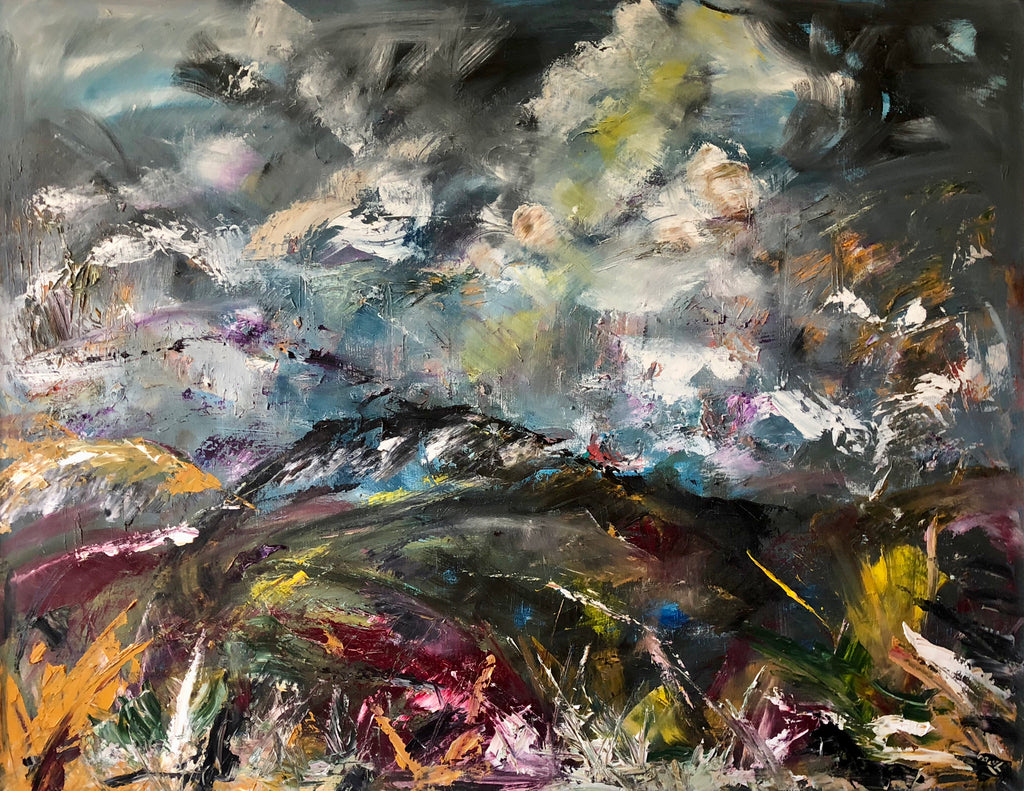 Scottish - English boarder painting . Landscape