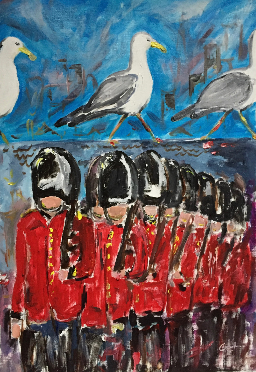 Seagulls and Soldiers - Trooping the colour - Soldier Painting
