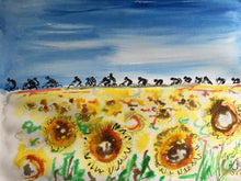 tour de france sunflowers