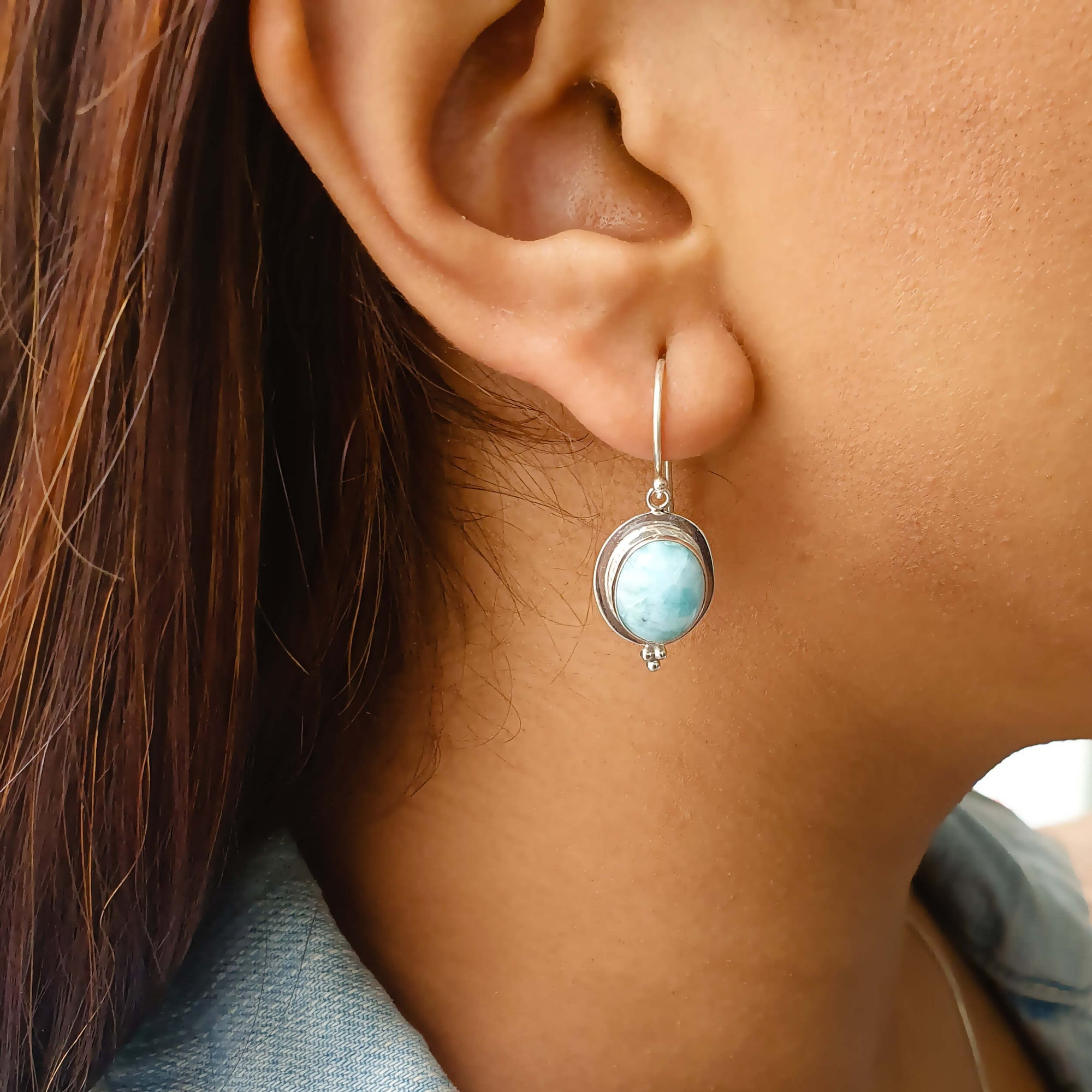 Chicago moonstone hoops