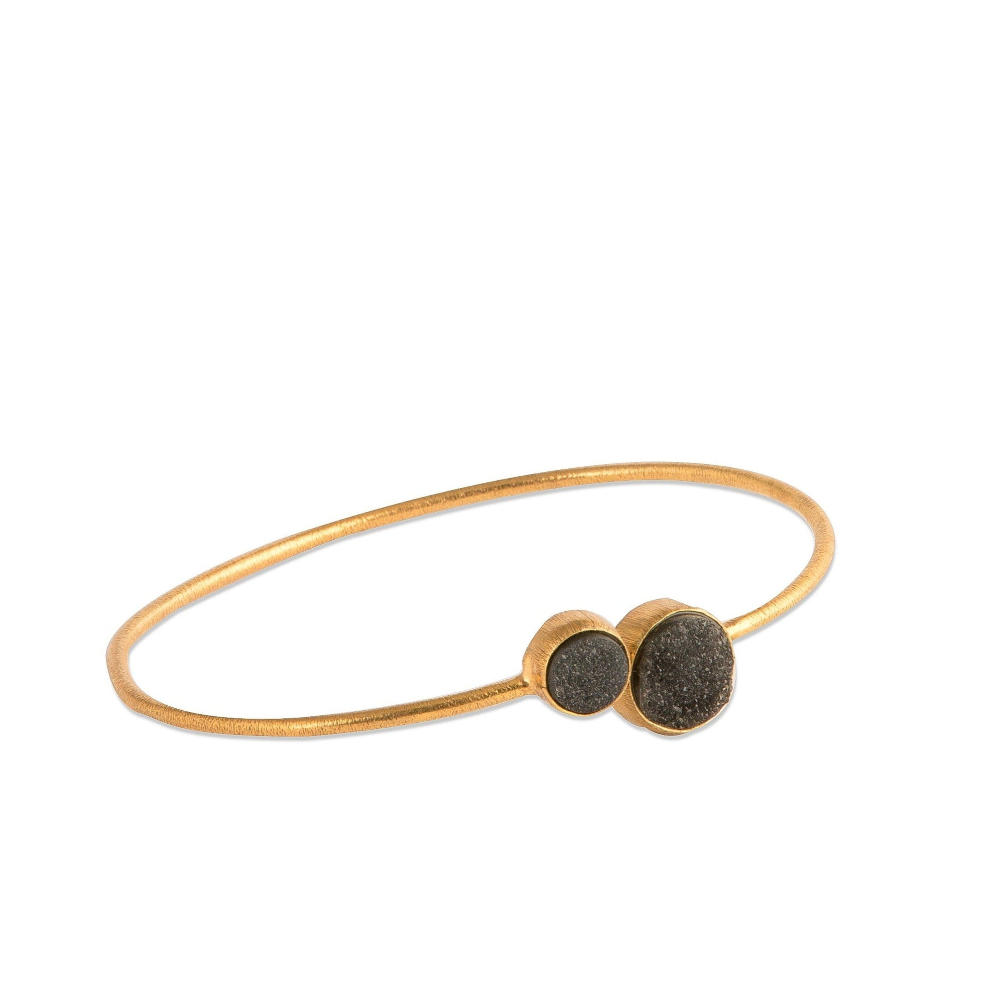 Demi - Gold - Black Druzy - Bangle