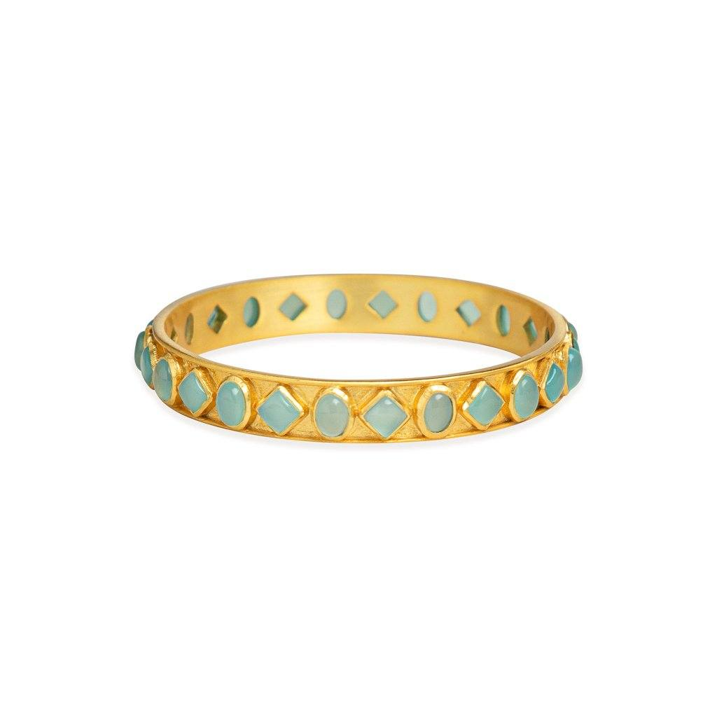 Porcia bangle in aqua chalcedony - Bangle