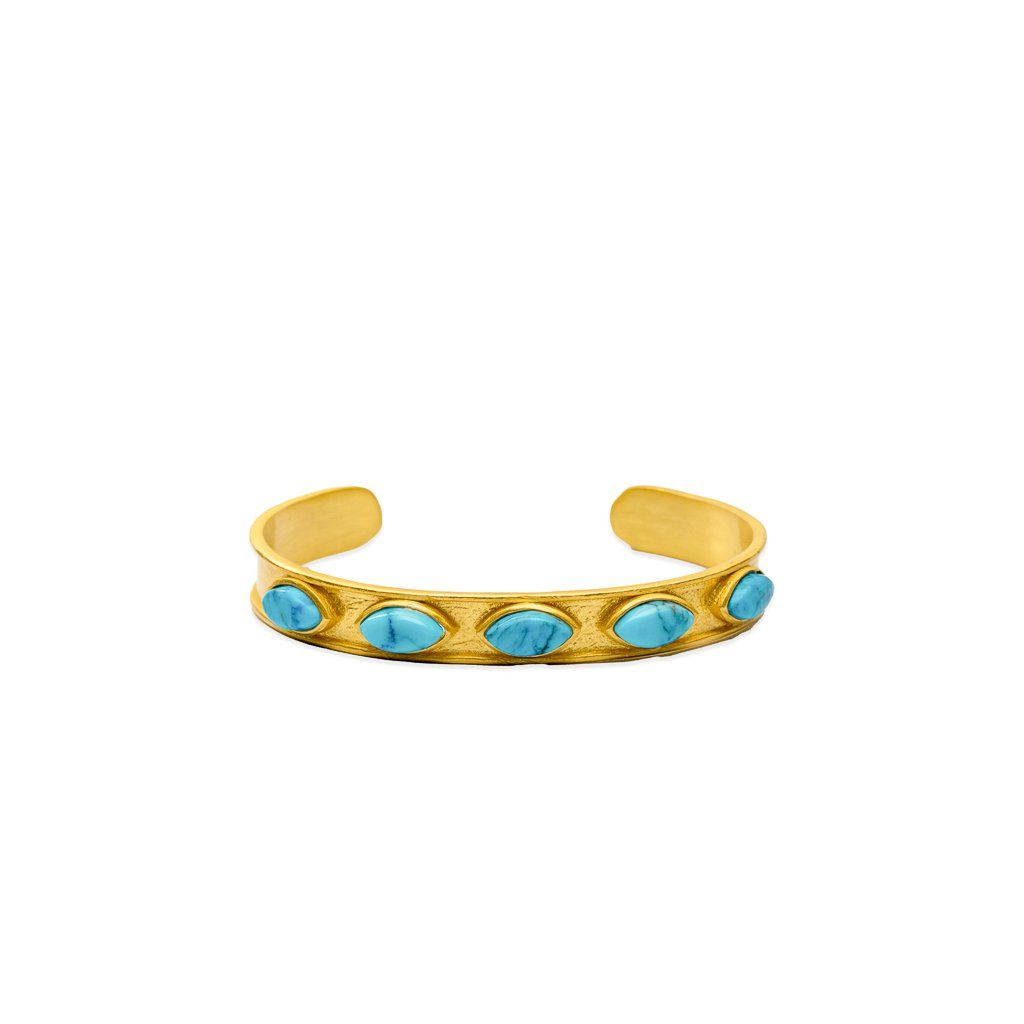 Audrey adjustable skinny cuff in turquoise - cuff