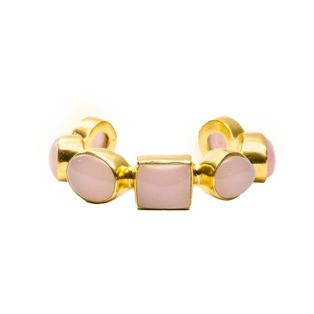 Marina chunky cuff in rose quartz - cuff